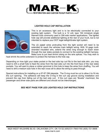 6 2 audi a4 limousine 200 instructions for lighted and led hole caps mar k