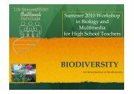 BIODIVERSITY - Life Sciences Outreach Program - Harvard University