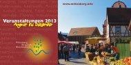 Veranstaltungen 2013 - Tourismusgemeinschaft Miltenberg ...