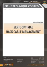fiche technique conteg serie optimal rack cable management