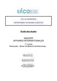 Guide des études du master 1 Achat et Négoce International