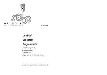Leitbild Statuten Reglemente - Belvoir Ruderclub Zürich