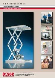 Klein-Hebesysteme - SOR Technology & Lifestyle GmbH