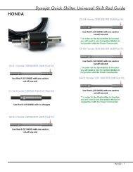Dynojet Quick Shifter Universal Shift Rod Guide - Power Commander