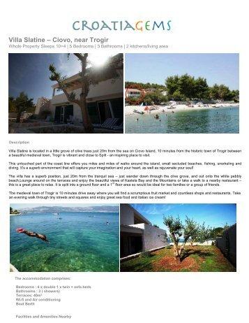 Villa Slatine – Ciovo, near Trogir - Croatia Gems