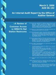 Customer Access to Restrooms Report - WMATA.com