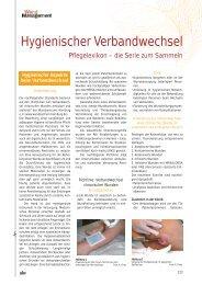 Hygienischer Verbandwechsel - Werner Sellmer