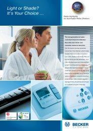 Flyer Roller shutter-Radio-Highlights.pdf - Becker Antriebe GmbH