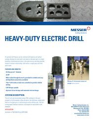 HEAVY-DUTY ELECTRIC DRILL - Messer Cutting Systems