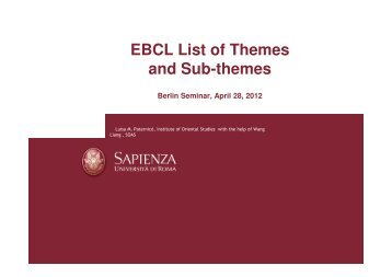 themes and topics for presentations universit atilde acirc curren t koblenz ebcl presentation of themes topics