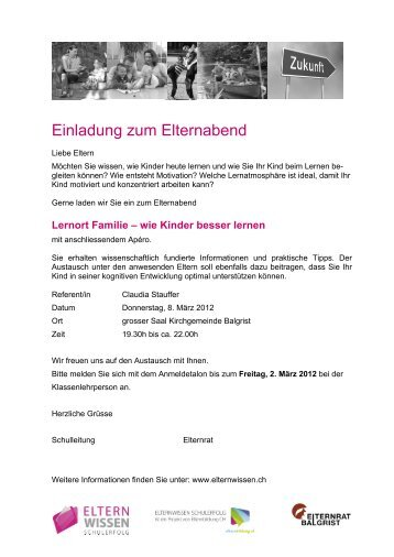 einladung zum elternabend der f-junioren - vfb hohenleipisch 1912, Einladung