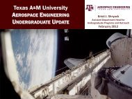 Working in conjunction with ECEN on camp and - Aerospace ...