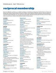 reciprocal membership - Milwaukee Art Museum
