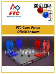 FTC Forum Answered Questions - first