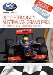 2010 FORMULA 1 AUstRALiAn GRAnd PRix - APX