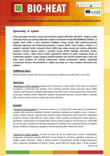Zpravodaj – 6. vydání Vzdělávací akce: - BIO-HEAT