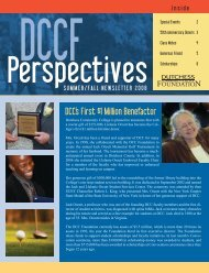DCC's First $1 Million Benefactor - Dutchess Community College