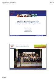 Chancen durch Kooperationen - Agrobusiness Niederrhein
