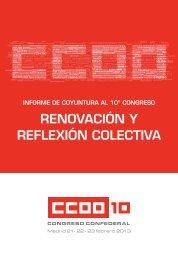 Informe de Coyuntura al 10º Congreso Confederal de CCOO