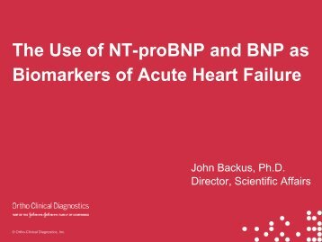 The Use of NT-proBNP and BNP as Biomarkers of Acute Heart Failure