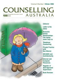WINTER - Australian Counselling Association