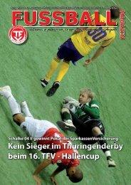Kein Sieger im Thüringenderby beim 16. TFV - Hallencup