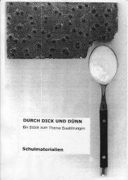 Durch dick und dünn. - Theaterspiel Beate Albrecht