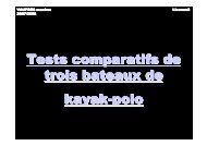 Comparatif kayak-polo - FFCK