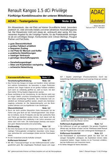 Renault Kangoo 1.5 dCi Privilège - ADAC