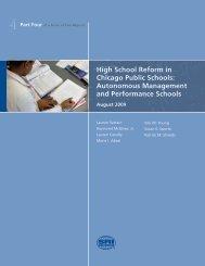 Autonomous Management and Performance Schools - UChicago ...
