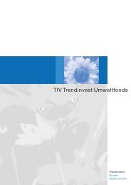 TIV Trendinvest Umweltfonds - Samuel Begasse
