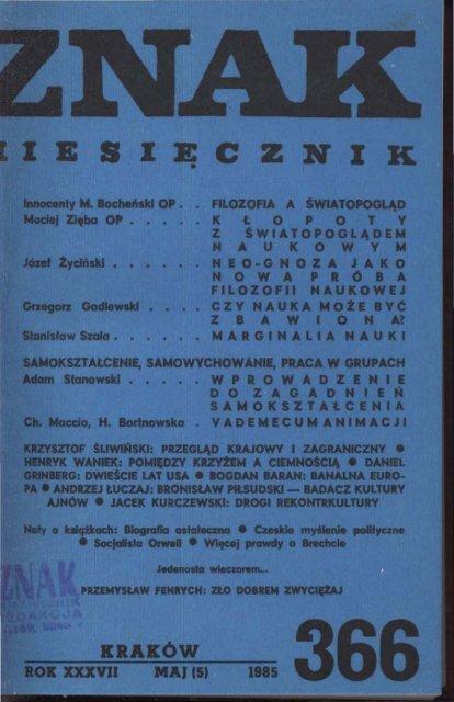 Nr 366 Maj 1985 Znak