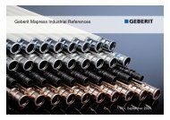 Geberit Mapress Industrial References - Pacific Pipe  and Pump, LLC.