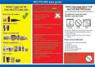RECYCLING easy guide - Recycling Near You