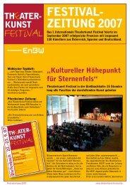 Festivalzeitung 2007 - Theaterkunst Festival