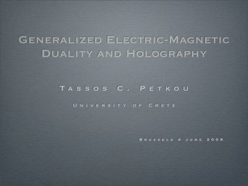 Generalized Electric-Magnetic Duality and Holography