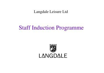 Staff Induction Programme - The Langdale