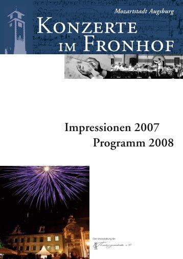 Impressionen 2007 Programm 2008 - Theatergemeinde Augsburg