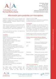 Pacemaker Spanish Info Sheet - April 2010.indd - Arrhythmia Alliance