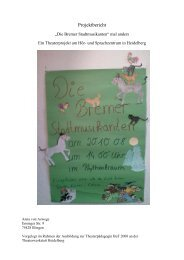 Projektbericht - Theaterwerkstatt Heidelberg