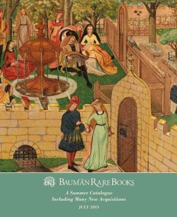 July 2013 Catalogue (PDF) - Bauman Rare Books