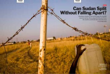 2011: Can Sudan Split Without Falling Apart? (Print), TIME Magazine