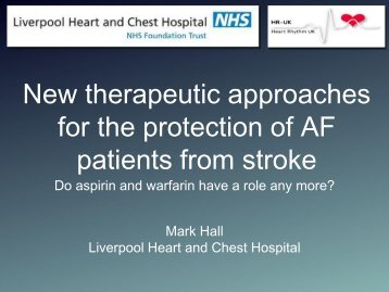 New therapeutic approaches for the protection of AF patients from ...
