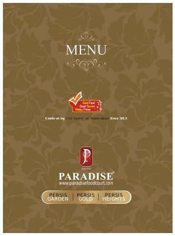 Hitec City - Persis Gold - Paradise food court