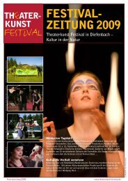 Theaterkunst Festival in Diefenbach – Kultur in der Natur