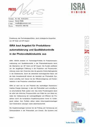 automatisierung und Qualitätskontrolle in der Photovoltaikindustrie ...
