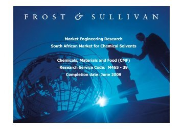 Research Service Code - Growth Consulting - Frost & Sullivan