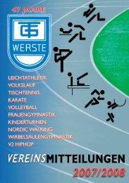 Liebe Vereinsmitglieder - TG Werste