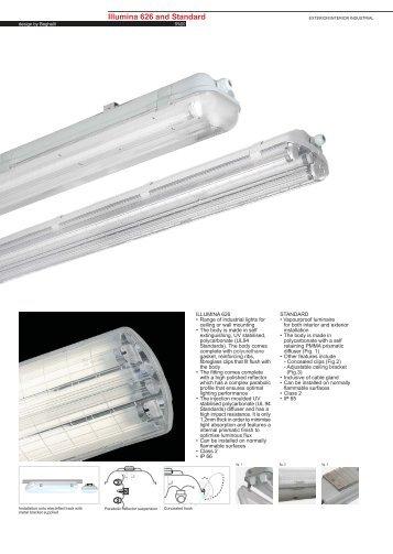 Illumina 626 Fluorescent T8 - Spazio Lighting