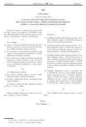 Vyhláška č. 73/2010 Sb.